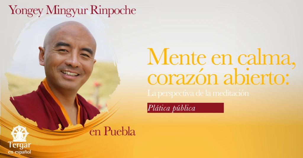 Plática público con Yongey Mingyur Rinpoche