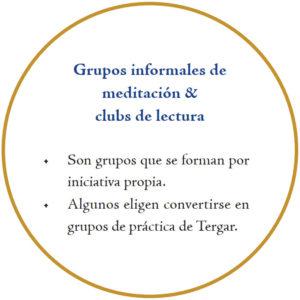 Grupos informales de meditación y clubs de lectura